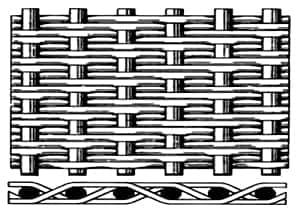 Twilled Dutch Weave Woven Wire Mesh