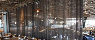 Black Metal Mesh Curtains Used in Restaurants