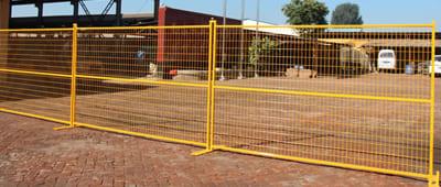 Yellow PVC Canada Temporary Fence