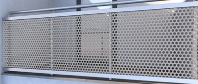 Perforated Metal Panel Fence