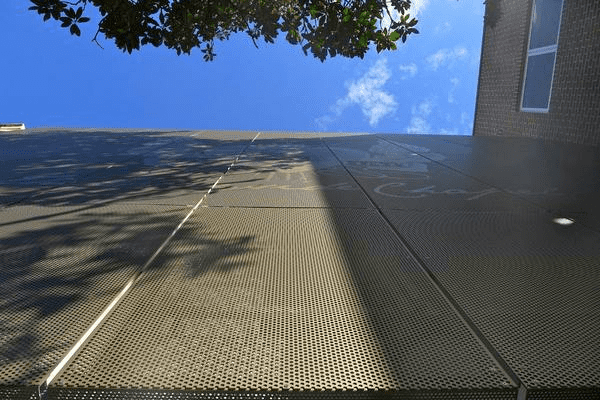 Perforated Metal Panel Building Facade