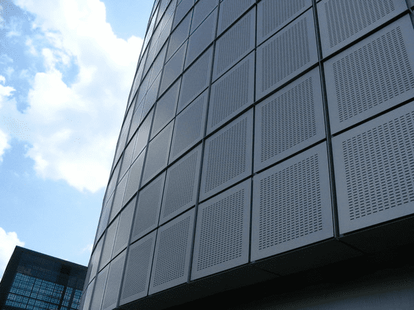Slotted Perforated Metal For Building Facade