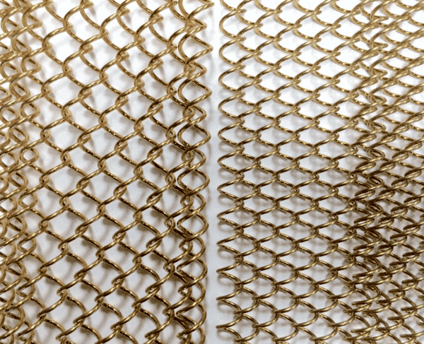 Champagne Gold Mesh Curtain
