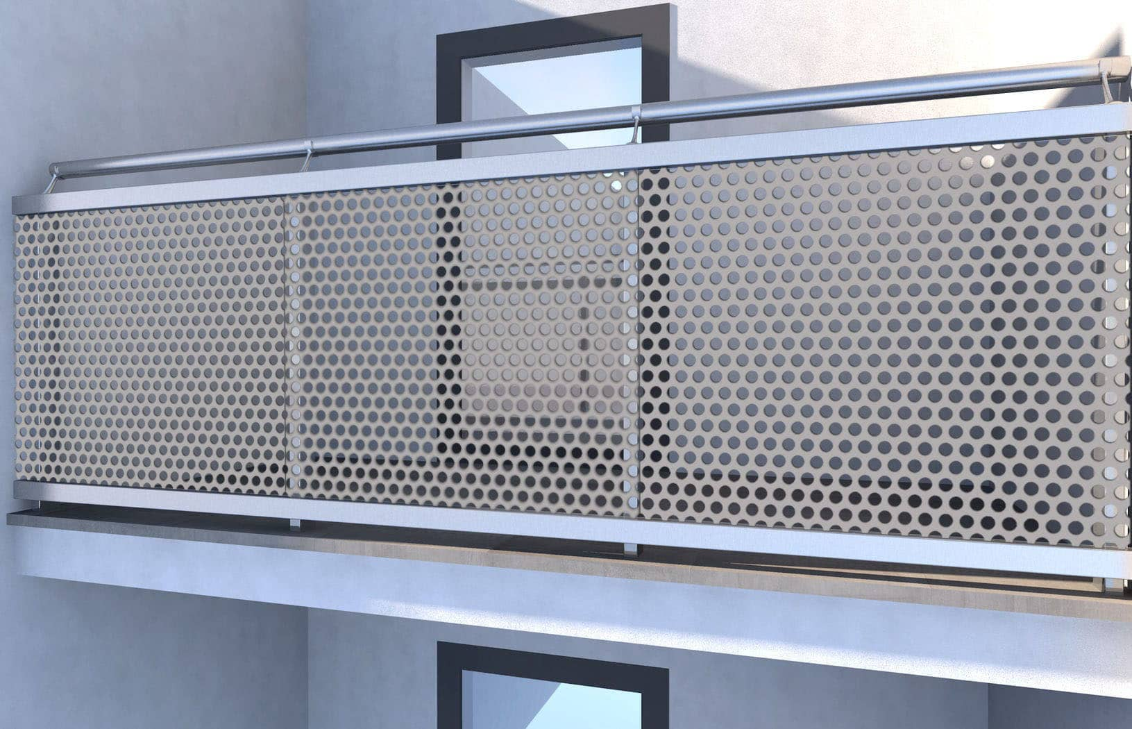 Perforated Metal Balustrade