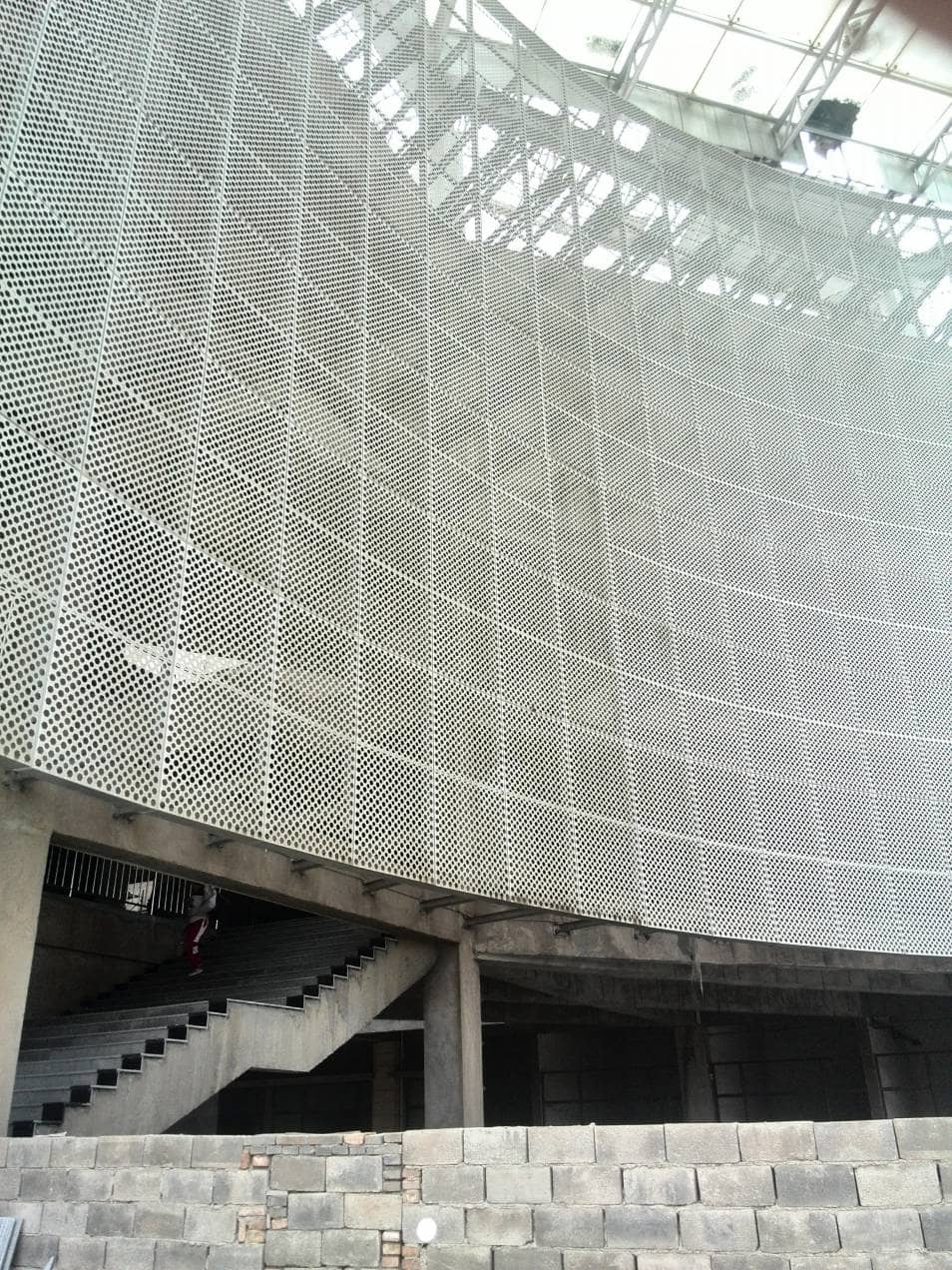 Perforated Metal Building Cladding