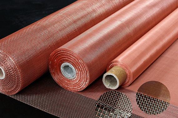 Woven Copper Wire Mesh Rolls