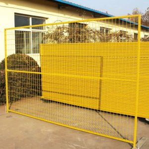 Yellow PVC Temporary Fence
