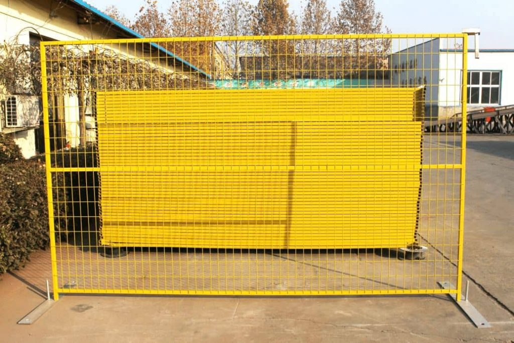 A Complete Set of Temporary Fencing