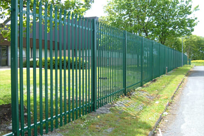 Steel Palisade Security Fence