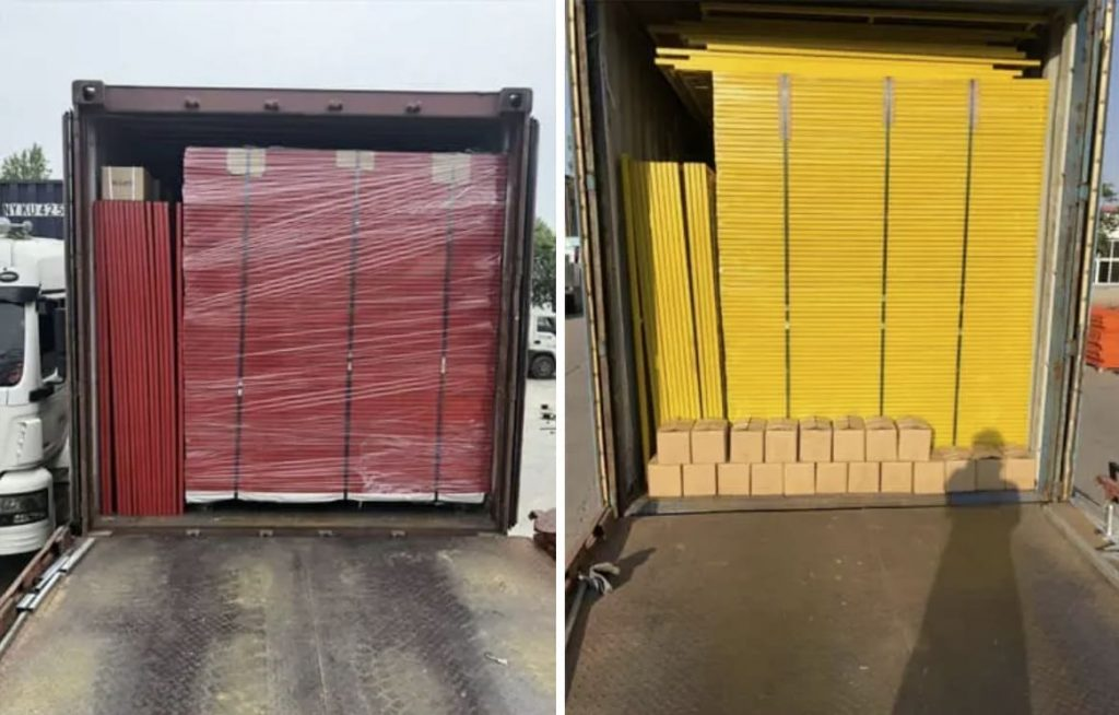 Temporary Fence Packaging