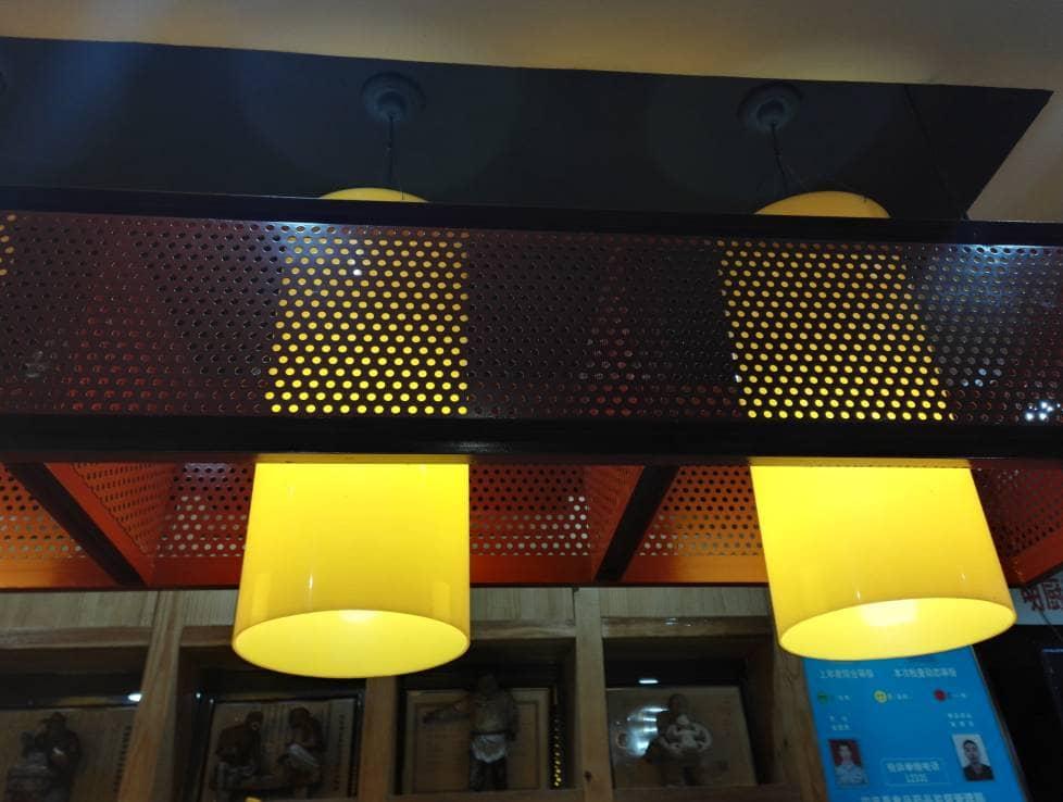 Black Round Hole Perforated Metal Light Box