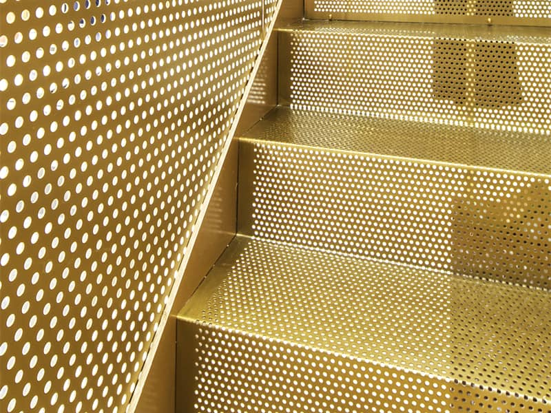 Brass Round Hole Perforated Metal Stairs