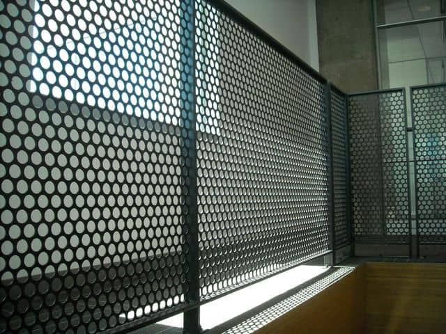 Indoor Perforated Fence with Round Holes