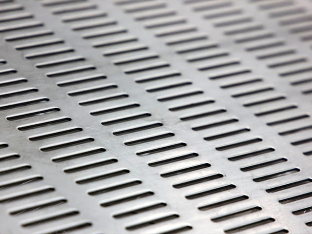 Slotted Perforated Metal Sheet