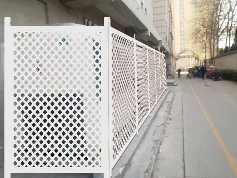 White Diamond Hole Perforated Fence